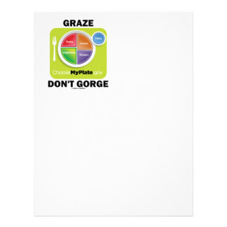 Graze Don't Gorge (MyPlate Diet Food Group Humor) Letterhead