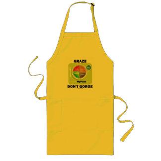 Graze Don't Gorge (MyPlate Food Group Attitude) Long Apron
