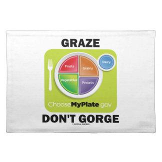 Graze no gorge (el humor del grupo de alimentos de mantel individual