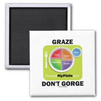 Graze no gorge (la actitud del grupo de alimentos imán cuadrado