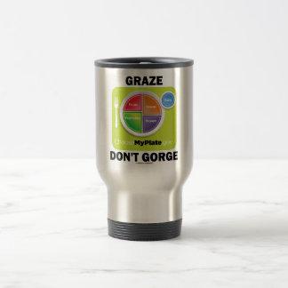 Graze no gorge (la actitud del grupo de alimentos  tazas de café