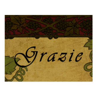 Grazie Grape Vines -Postcard Postcard