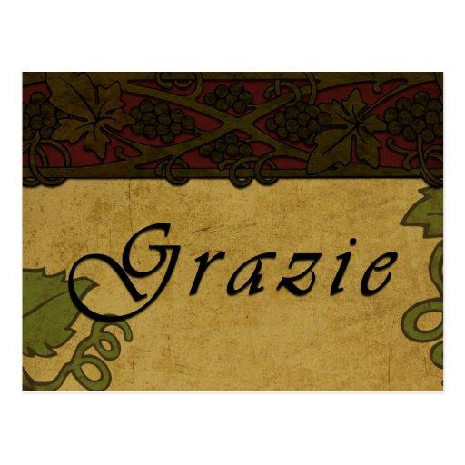 Grazie Grape Vines -Postcard Postcard