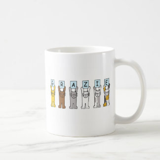 Grazie, Italian thanks, with cats. Coffee Mug