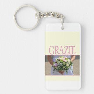 Grazie La Sposa di Sabbia Wedding Favor Double-Sided Rectangular Acrylic Keychain