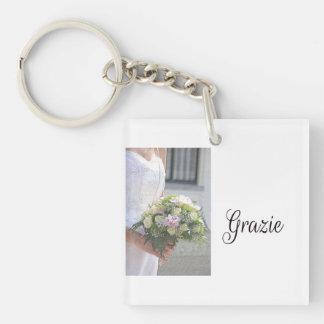 Grazie La Sposa di Sabbia Wedding Favor Double-Sided Square Acrylic Keychain