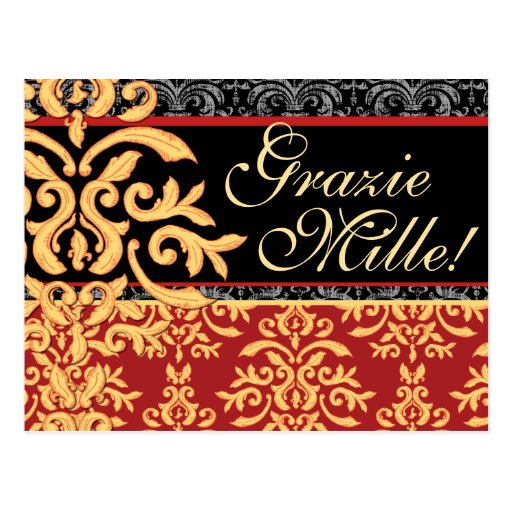 Grazie Mille doró italiano del damasco le agradece Tarjetas Postales