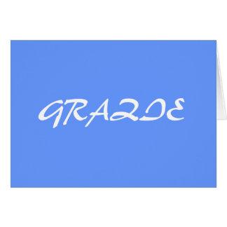 GRAZIE STATIONERY NOTE CARD
