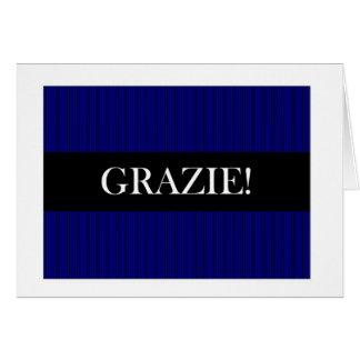 Grazie Thank You in Italian Card
