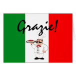 Grazie-Thanks-Italian Chef Greeting Cards