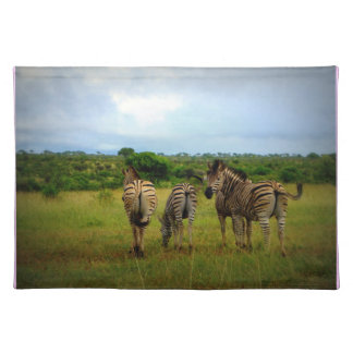 Grazing African Zebras Placemats