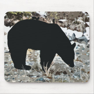 Grazing Black Bear Mouse Pad