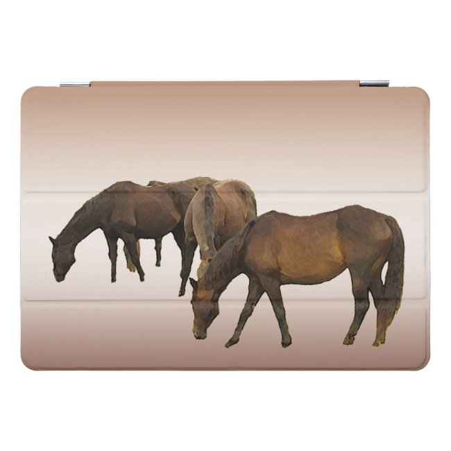 Grazing Brown Horses 10.5 iPad Pro Case