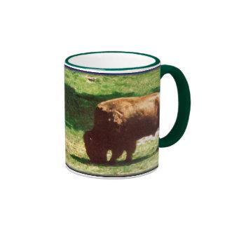 Grazing Bull Ringer Mug