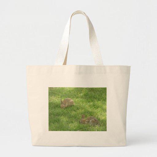 Grazing Bunnies Jumbo Tote Bag
