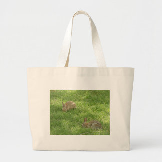 Grazing Bunnies Large Tote Bag
