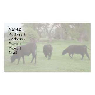 Grazing Cattle v1 Business Card Templates
