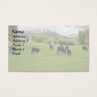 Grazing Cattle v2 Business Card