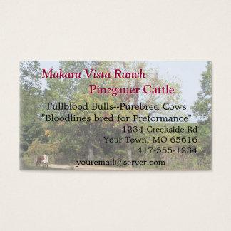 Grazing Cow Biz Card2-customize Business Card