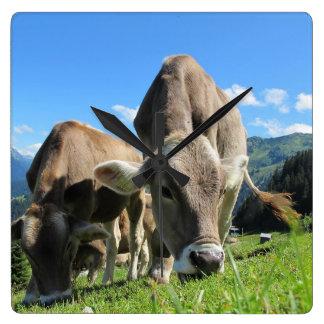Grazing Cow Clock