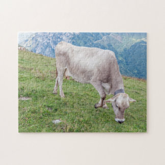 Grazing cow photo puzzle