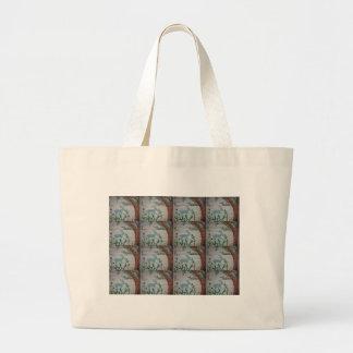 Grazing dear Tiles.JPG Large Tote Bag