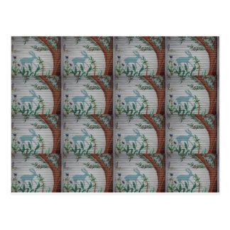 Grazing dear Tiles.JPG Postcard