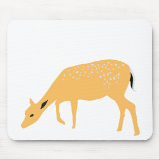 Grazing deer mouse pad