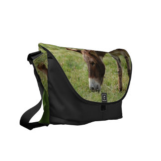 Grazing Donkey Courier Bag