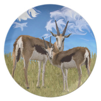 Grazing Gazelles Melamine Plate
