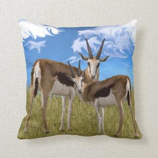 Grazing Gazelles Throw Pillow