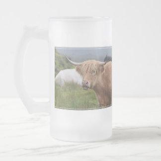Grazing Highland Cow Beer Mugs