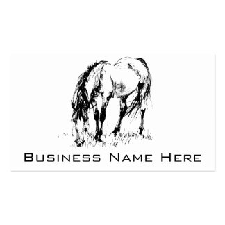 Grazing Horse Illustration Double-Sided Standard Business Cards (Pack Of 100)