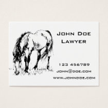 Grazing Horse Illustration Business Card