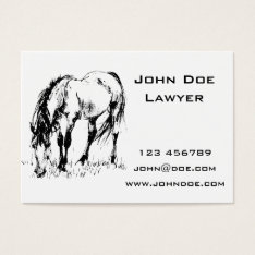 Grazing Horse Illustration Business Card at Zazzle