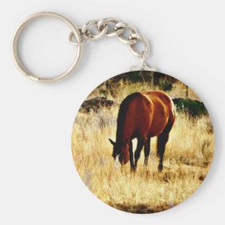 Grazing Horse Keychain
