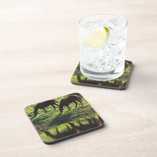 Grazing Horse Pair Set of Coasters