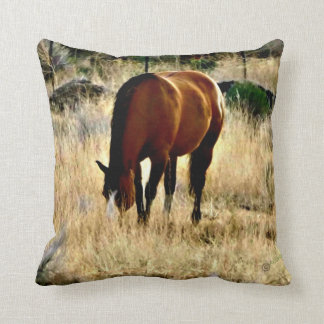 Grazing Horse Pillow