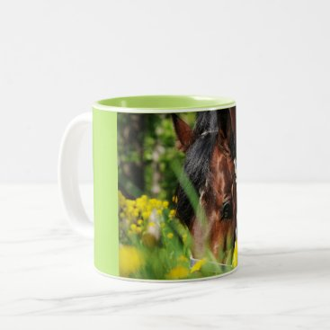 anakondasp grazing horse Two-Tone coffee mug