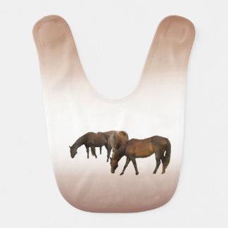 Grazing Horses Baby Bib