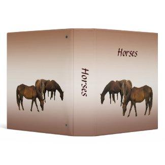 Grazing Horses Vinyl Binder