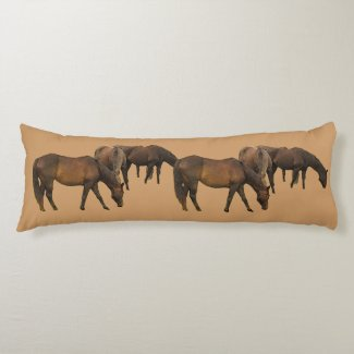 Grazing Horses Body Pillow