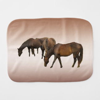 Grazing Horses Burp Cloth