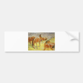 Grazing Horses by Franz Marc Bumper Sticker