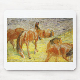 Grazing Horses by Franz Marc Mouse Pad
