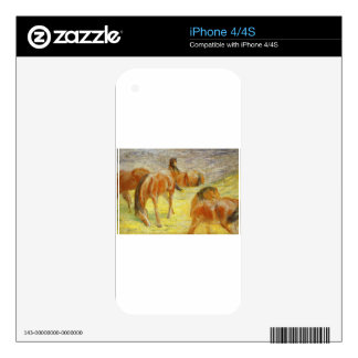 Grazing Horses by Franz Marc Decals For The iPhone 4S