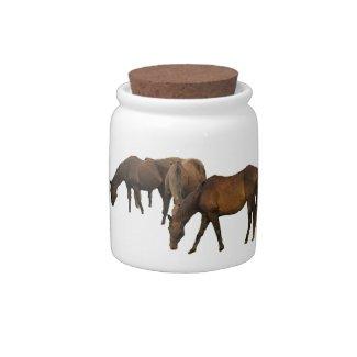 Grazing Horses candyjar