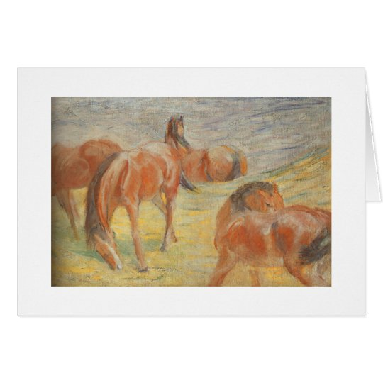 Grazing Horses Card