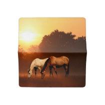 Grazing horses checkbook cover