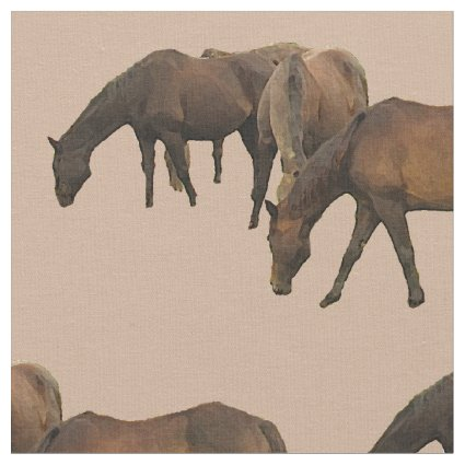 Grazing Horses Fabric